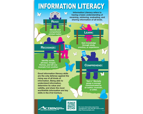 Information Literacy Poster for Action Agendas